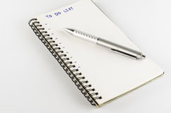 Free Notebook With Pen Write To Do List Word Royalty Free Stock Photos - 40734868