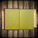 Notebook on wood Royalty Free Stock Image