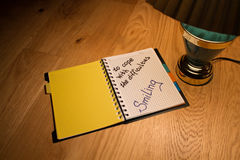 Notebook and writing motivation Stock Images