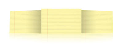 Notebook with yellow leaves Royalty Free Stock Image