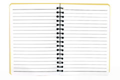 Notebook yellow lined standing Royalty Free Stock Photography