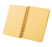 Notebook with yellow pages on a spiral Royalty Free Stock Photo