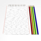 notebook2铅笔 库存照片