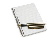 notebookl πέννα Στοκ Εικόνες