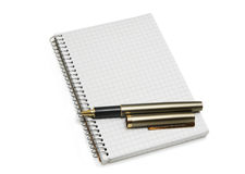 Notebookl and  pen Stock Photo