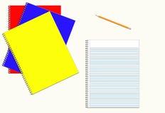Notebooks. Back to School Notebooks Stock Photo