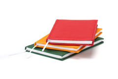 Notebooks. Three notebooks on white background royalty free stock photography
