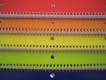 Notebooks. Colored notebooks Royalty Free Stock Images