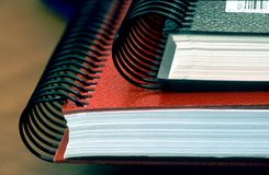 Notebooks. Close up of two notebooks Royalty Free Stock Images