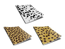 Notebooks. Notebook with design skin of wild animals Stock Photos