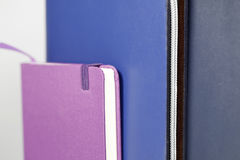 Notebooks arrangement. Back to school, back to work Stock Photography