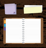 Notebooks Background with Post it and Notepad Royalty Free Stock Image