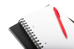 Notebooks with blank pages Royalty Free Stock Photos