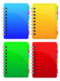 Notebooks Collection. Colorful Notebooks Collection isolated on white Royalty Free Stock Image