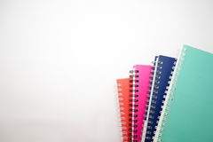 Notebooks. A few stacked notebooks isolated on white background Royalty Free Stock Photography