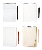 Notebooks group Royalty Free Stock Photography