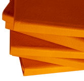 Notebooks orange. A set of book on a white background with leather cover Royalty Free Stock Image