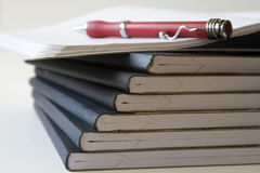 Notebooks with pen Royalty Free Stock Images