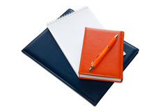 Notebooks and pen Royalty Free Stock Image
