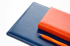 Notebooks and pen Royalty Free Stock Images