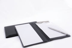 Notebooks and Pen Stock Images