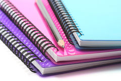 Notebooks and Pencil Royalty Free Stock Images