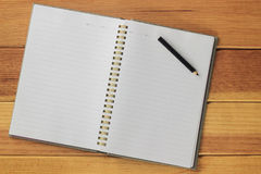 Notebooks and pencils Royalty Free Stock Image