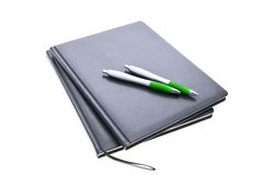 Notebooks and pens Royalty Free Stock Photography