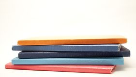 Notebooks stacked Stock Photography