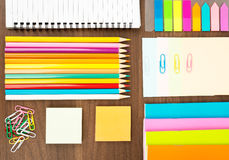 Notebooks with stationary Royalty Free Stock Photography