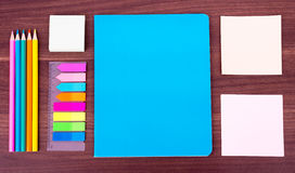 Notebooks with stationary Royalty Free Stock Images