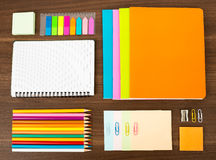 Notebooks with stationary Royalty Free Stock Photo