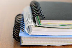 Notebooks on table Royalty Free Stock Photography