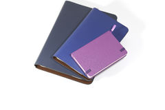 Notebooks on white background. Back to school, back to work Stock Image