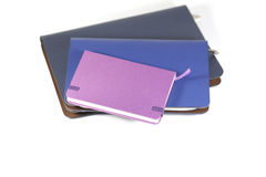 Notebooks on white background. Back to school, back to work Stock Photo