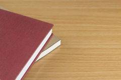 Notebooks on the wood table Royalty Free Stock Photos