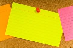 notecard corkboard Стоковое Фото