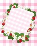 Notecard de fraise Photographie stock libre de droits