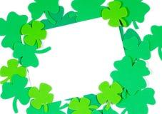 Notecard do espaço em branco da nota do dia do St. Patrick Fotos de Stock