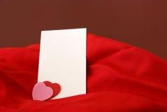 Notecard romántico en blanco Foto de archivo