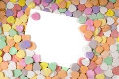 notecard valentines day Zdjęcie Royalty Free