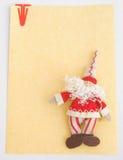 Notelet con il Babbo Natale. Fotografia Stock
