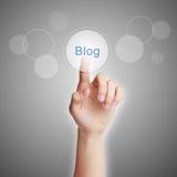Noten-Blog-Knopf Lizenzfreies Stockbild