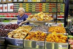 Noten en droge vruchten opslag in de markt van Teheran Royalty-vrije Stock Fotografie
