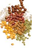 Noten en zaden, gezonde snack stock afbeelding