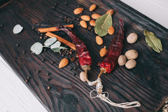 Noten, kruiden en voedsel Royalty-vrije Stock Fotografie