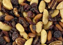 Noten, rozijnen, fig., amandelen Stock Foto