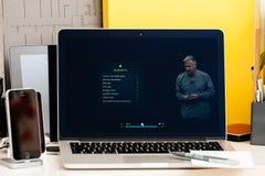 NOTEN-Stangendarstellung Macbook Pro Lizenzfreie Stockfotos