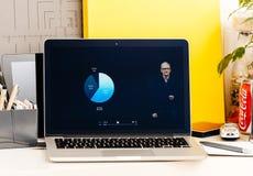 NOTEN-Stangendarstellungs-IOS 10 Macbook Proannahme, Migration Stockfotografie
