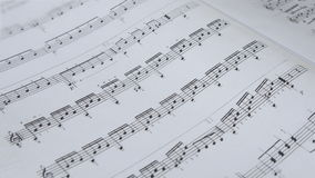 Notenen-Hintergrund-musikalische Anmerkungen stock video